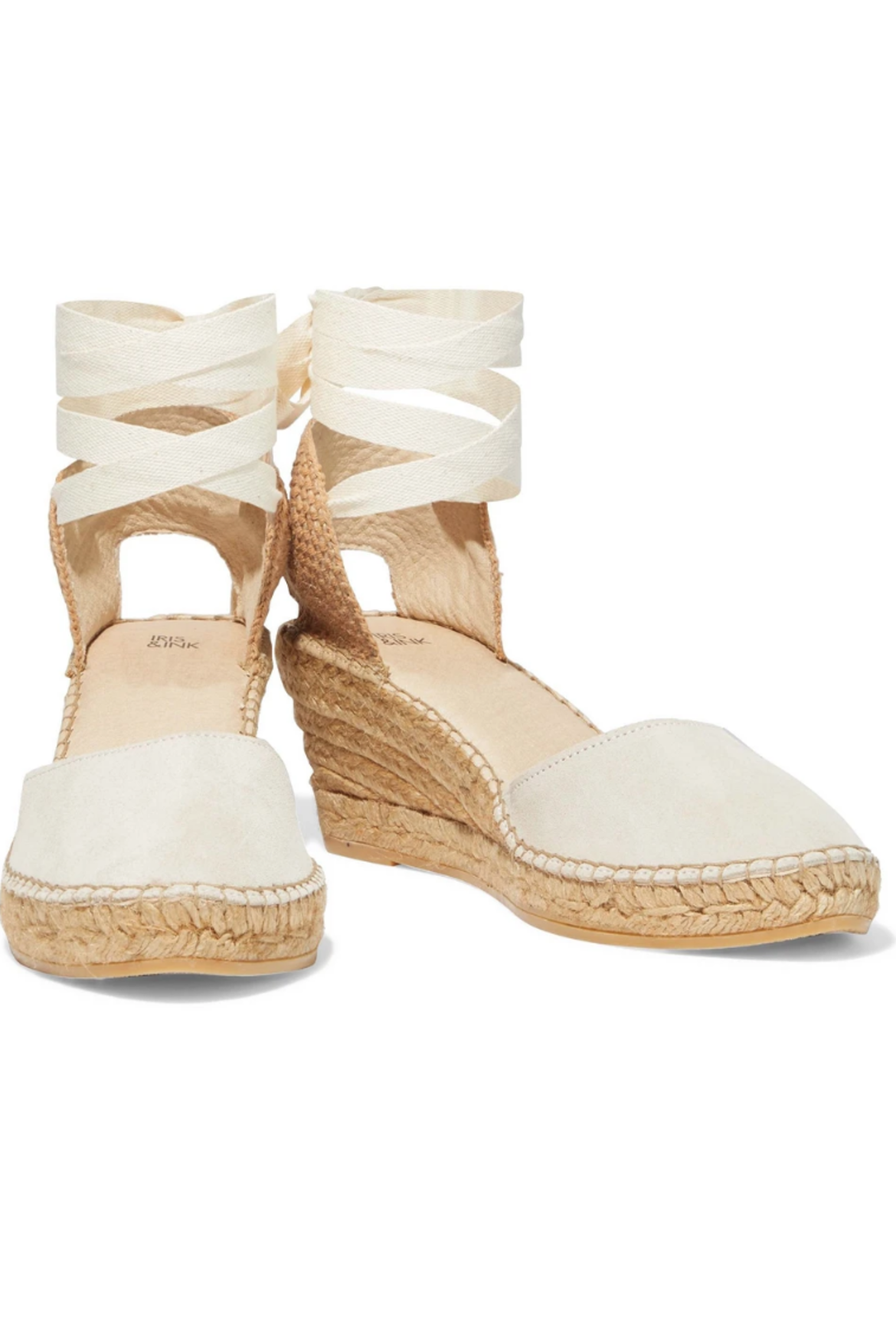 IRIS & INK Stina suede wedge espadrilles HK$622 fromTHE OUTNET