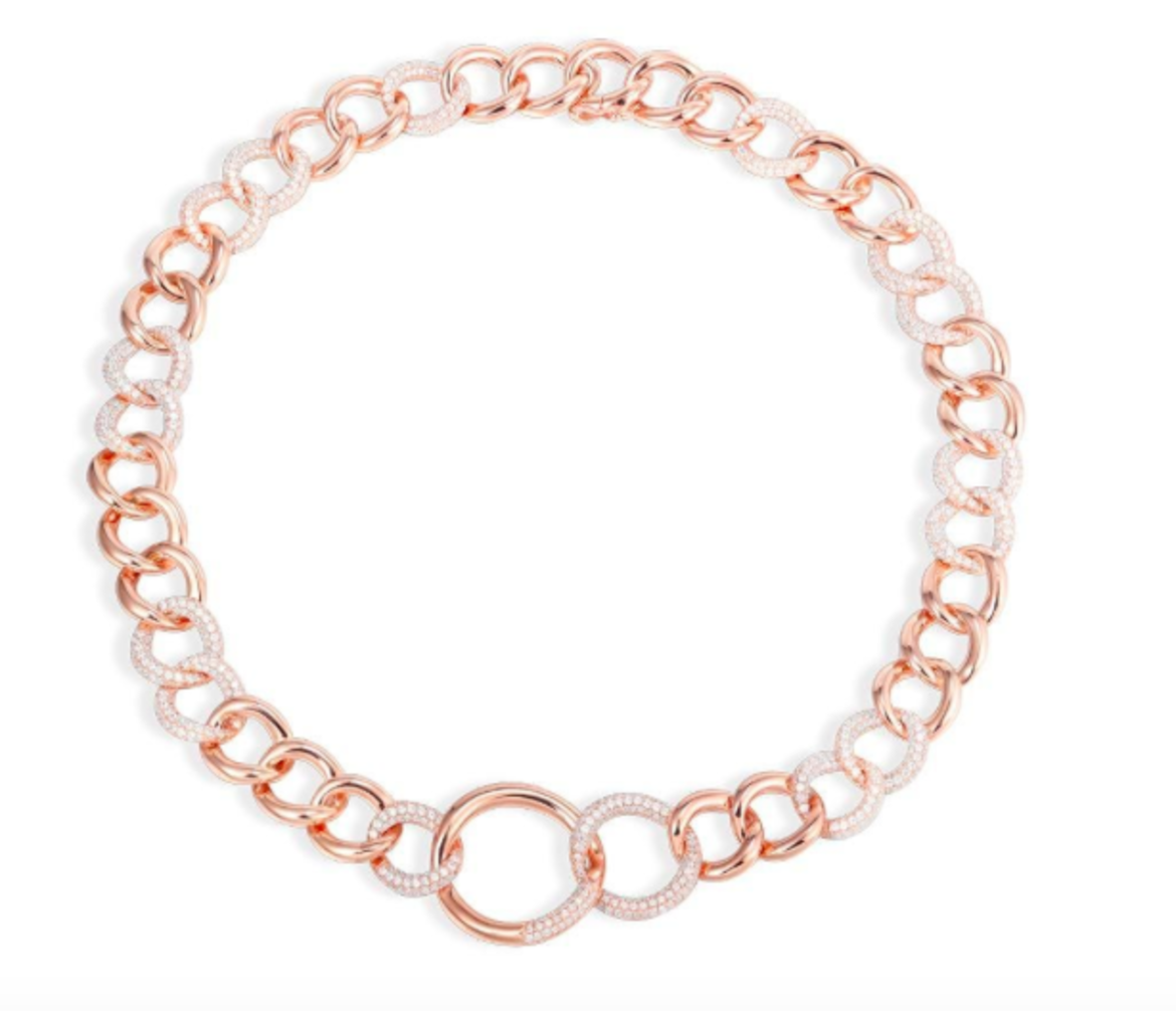 APM Monaco COLLECTION ROCK  Pink And White Chain Necklace - Pink Silver HK$6,360