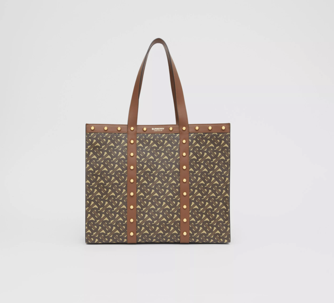 BURBERRY Small Monogram Print E-canvas Tote Bag HK$11,500