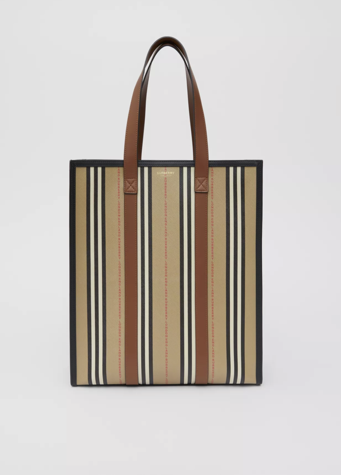 BURBERRY Logo and Stripe E-canvas Portrait Tote BagPrice HK$9,300