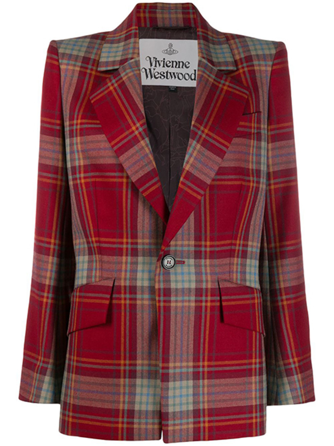 VIVIENNE WESTWOOD checked single breasted blazer HK$7,197 from Farfetch