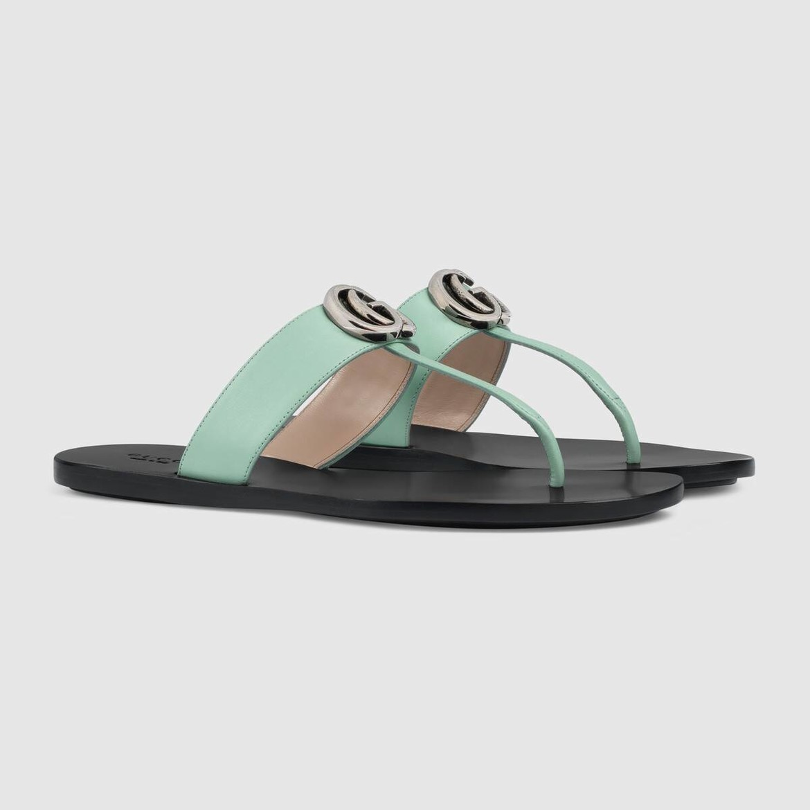 Leather thong sandal with Double G HK$4,700
