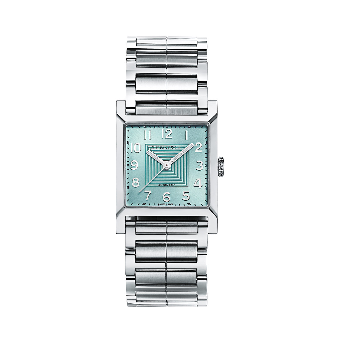 Tiffany & Co.  Tiffany 1837 Makers 27 mm square watch in stainless steel with a Tiffany  Blue® dial $29,000
