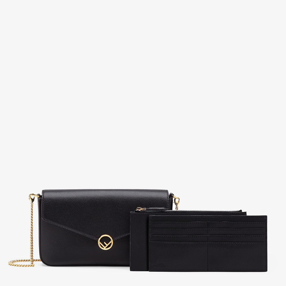 WALLET ON CHAIN WITH POUCHES Black leather minibag Code: 8BS032A18BF0KUR  HK$9,600