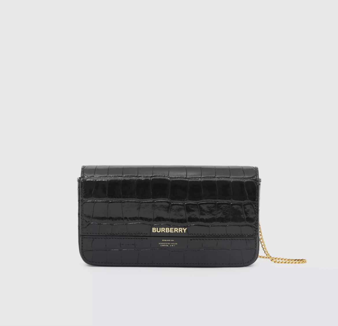 Embossed Leather Wallet with Detachable Chain Strap  HK$8,100