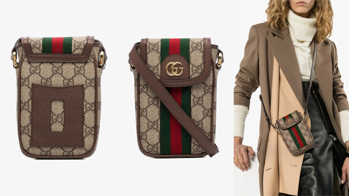 Gucci Brown Ophidia GG Supreme iPhone Mini Bag HK$6,700  from browns