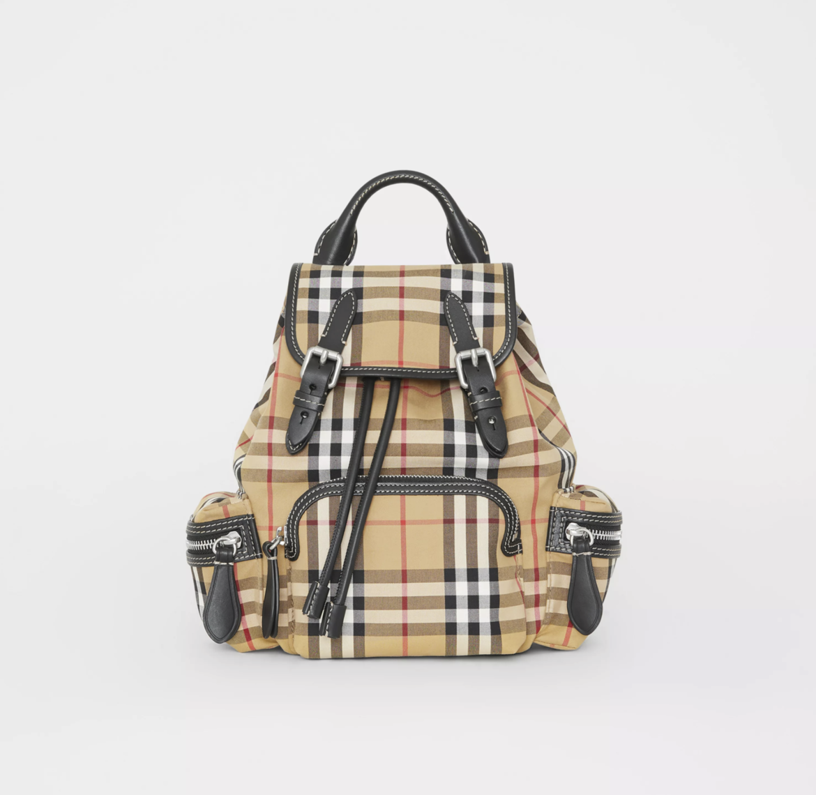 The Small Rucksack in Vintage Check and LeatherHK$12,200