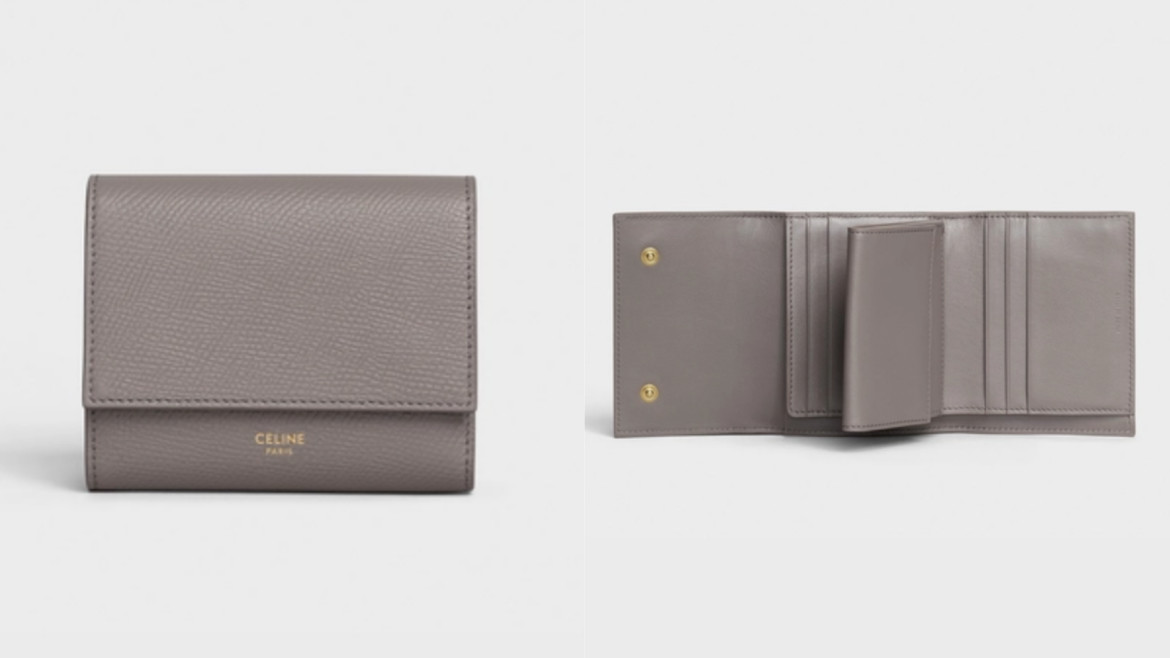 SMALL TRIFOLD WALLET IN GRAINED CALFSKIN HK$4,600
