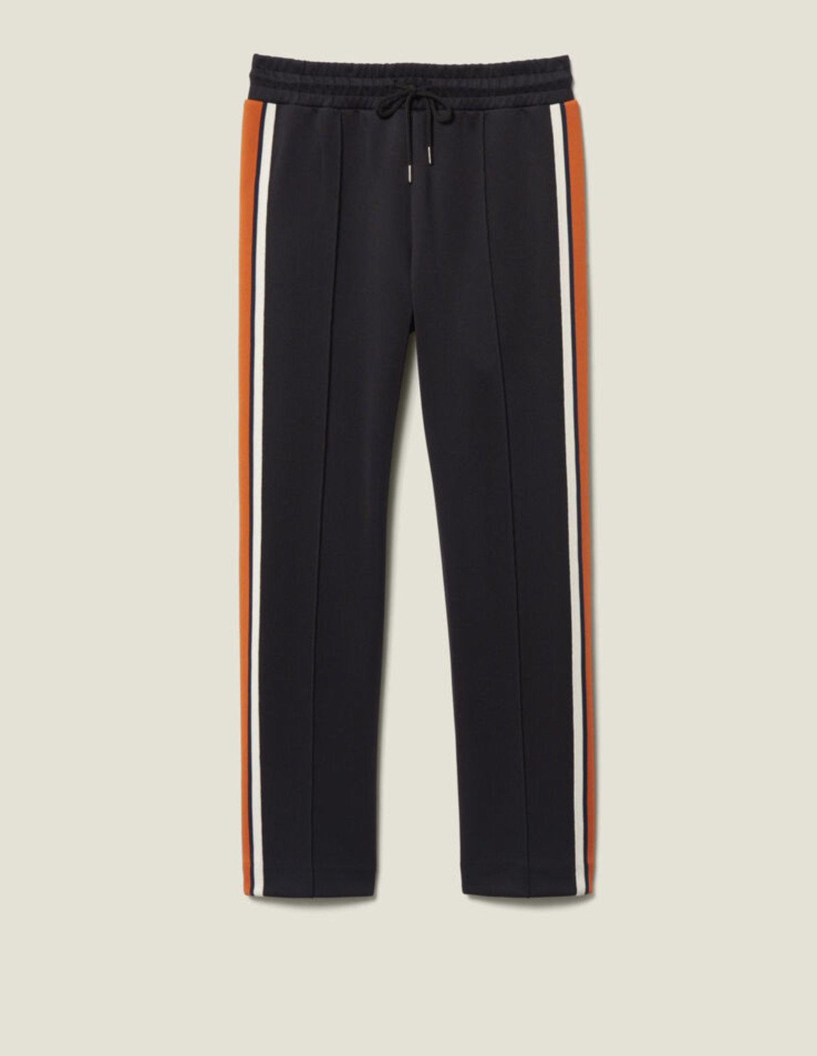 Sandro jersey jogging bottoms with stripes, was HK$2,190, now HK$1,095 (www.sandro-paris.com.hk)