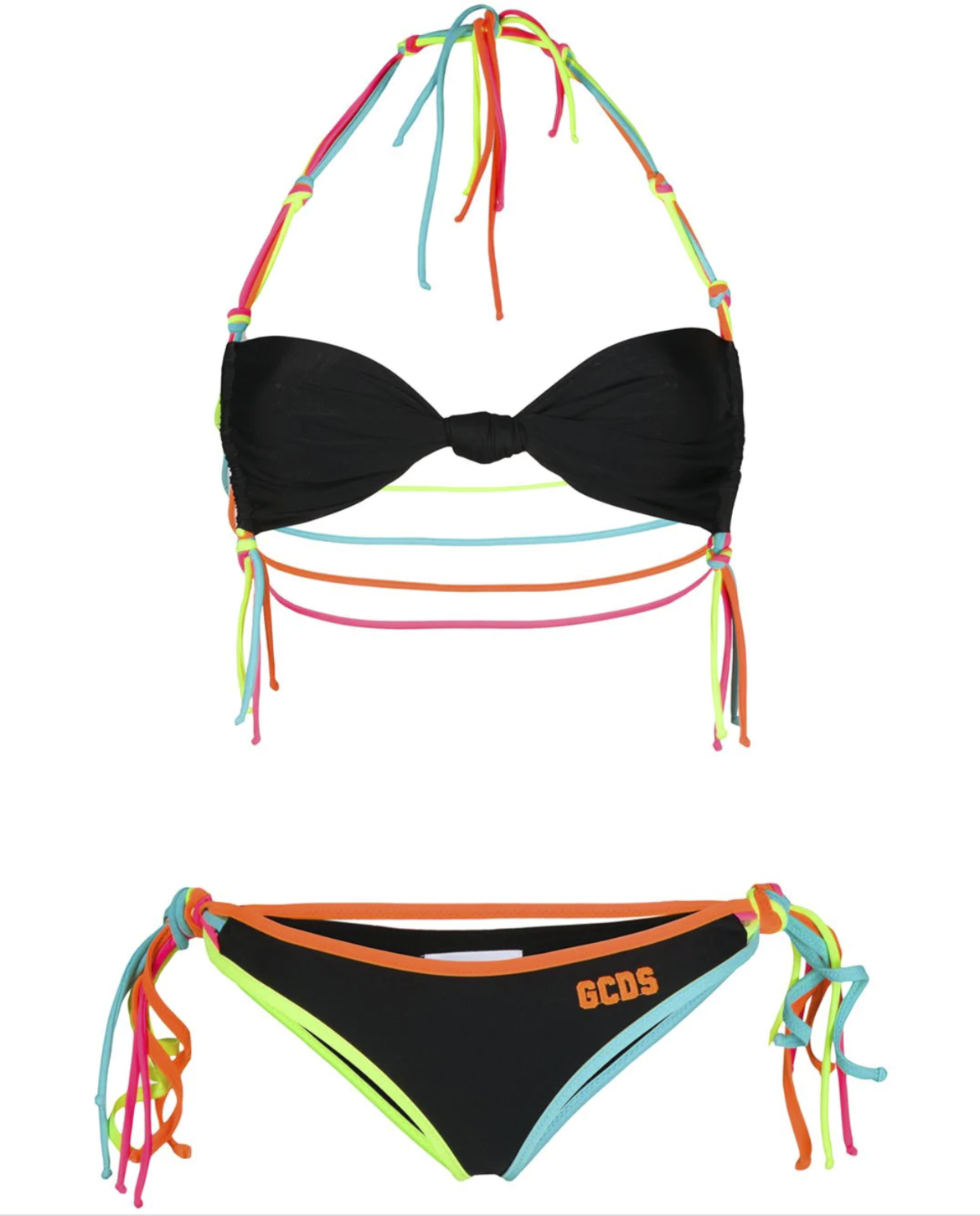 GCDS halter neck logo print bikini HK$1,119 from farfetch