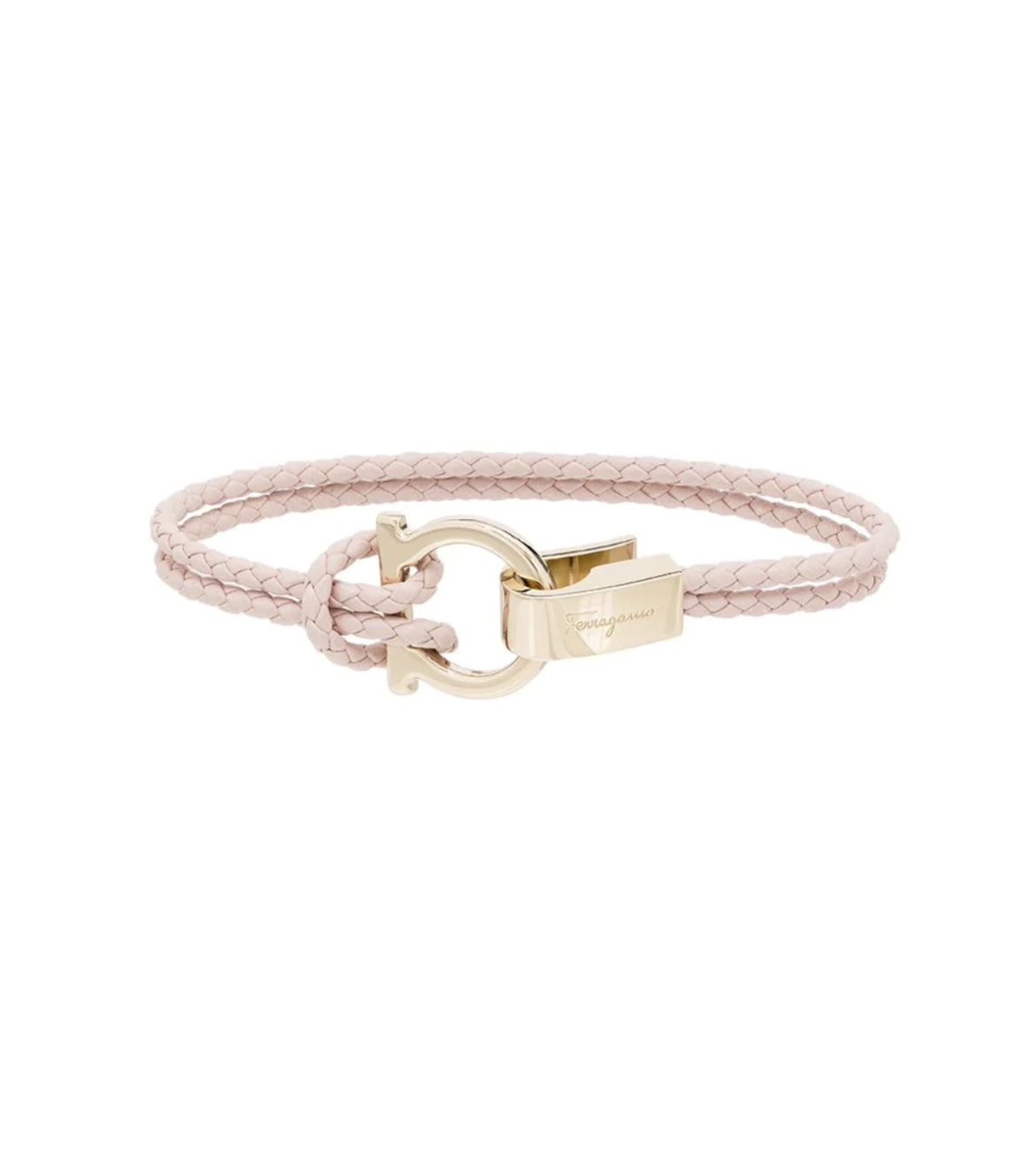 Gancini-plaque braided bracelet HK$1,512 from farfetch