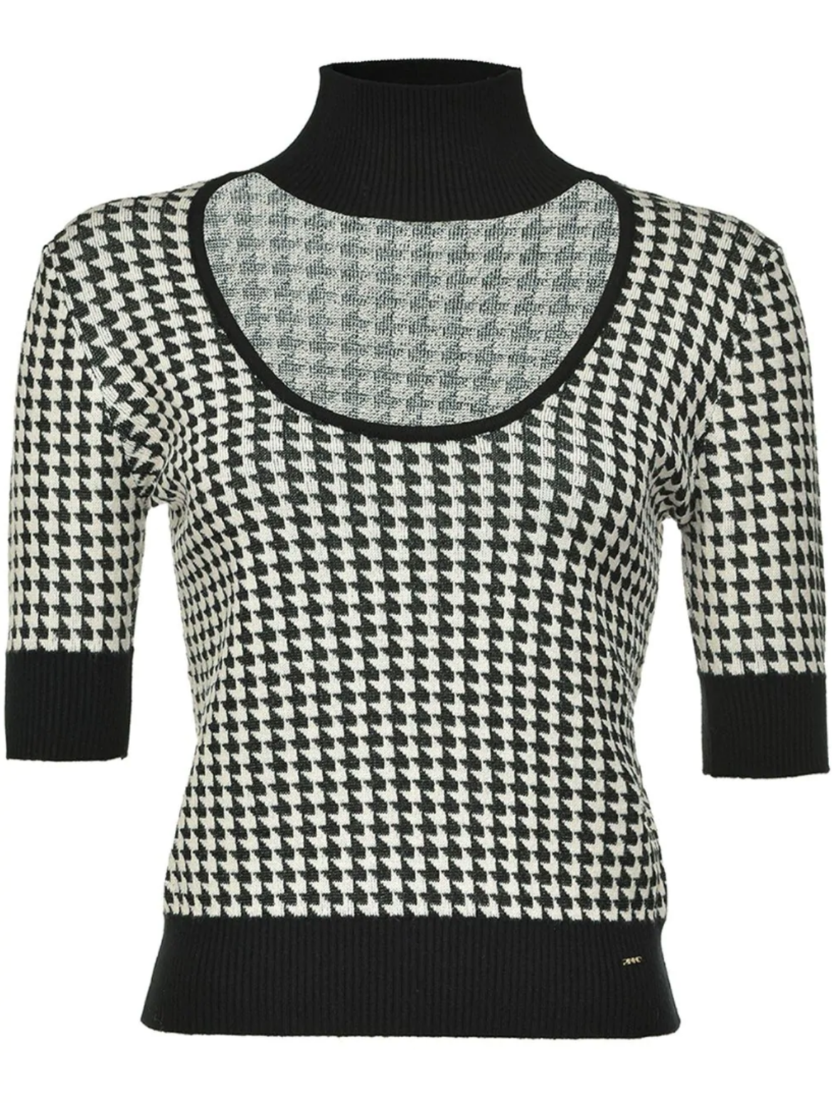 Pinkohoundstooth knitted top HK$2,100 from farfetch