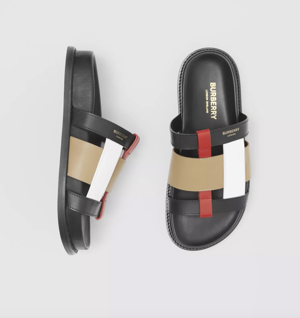 Colour Block Leather Slides HK$4,600