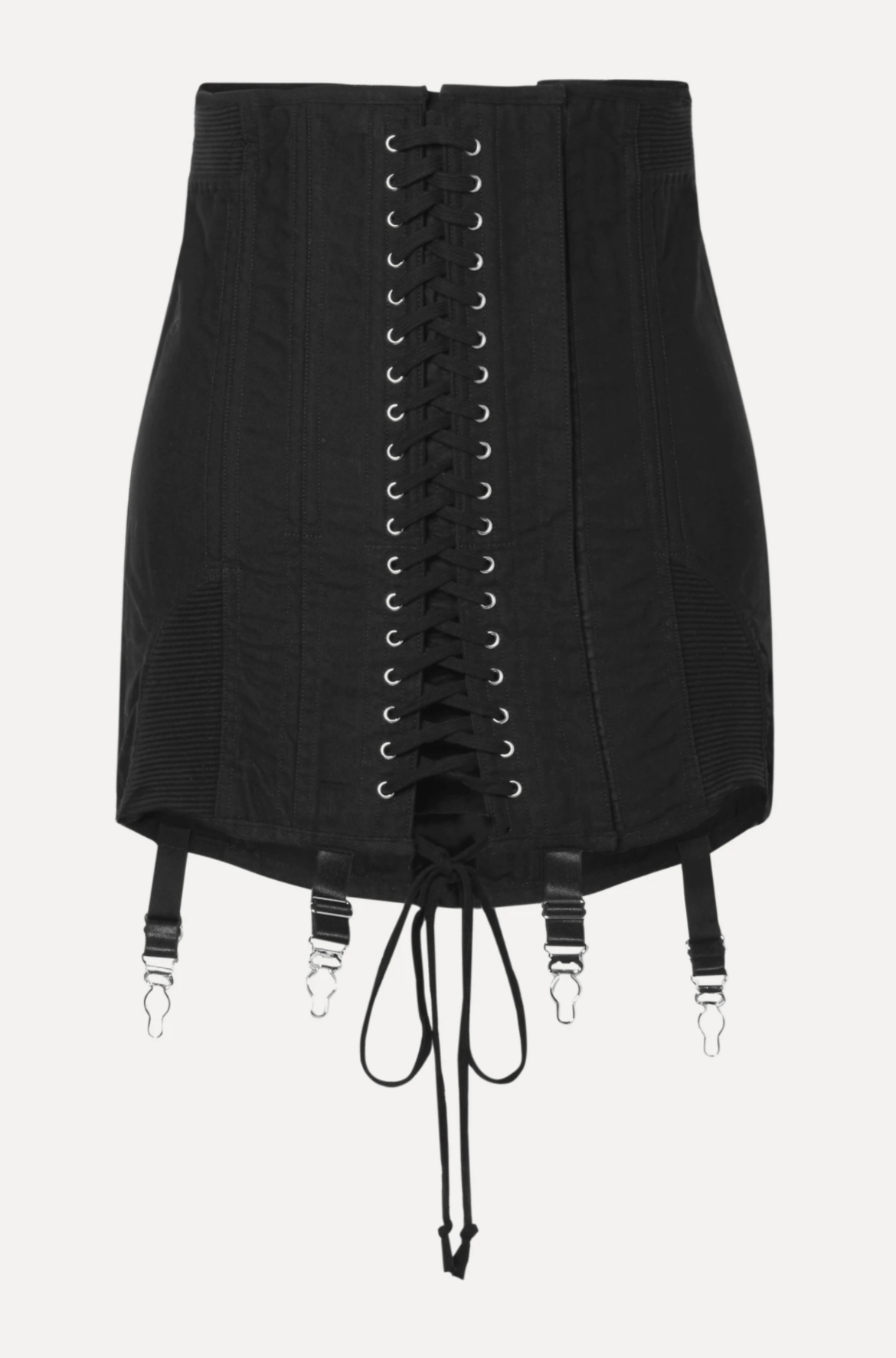 ORSEUND IRIS Gamine lace-up cotton-twill mini skirt HK$5,960 from net-a-porter