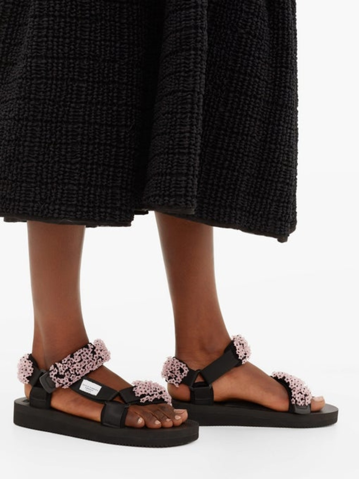 CECILIE BAHNSENX Suicoke Maria beaded Velcro-strap sandalsHK$3,370 from matchesfashion