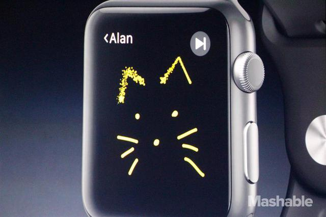 Apple Watch全新功能:Digital Touch。翻攝自《mashable》