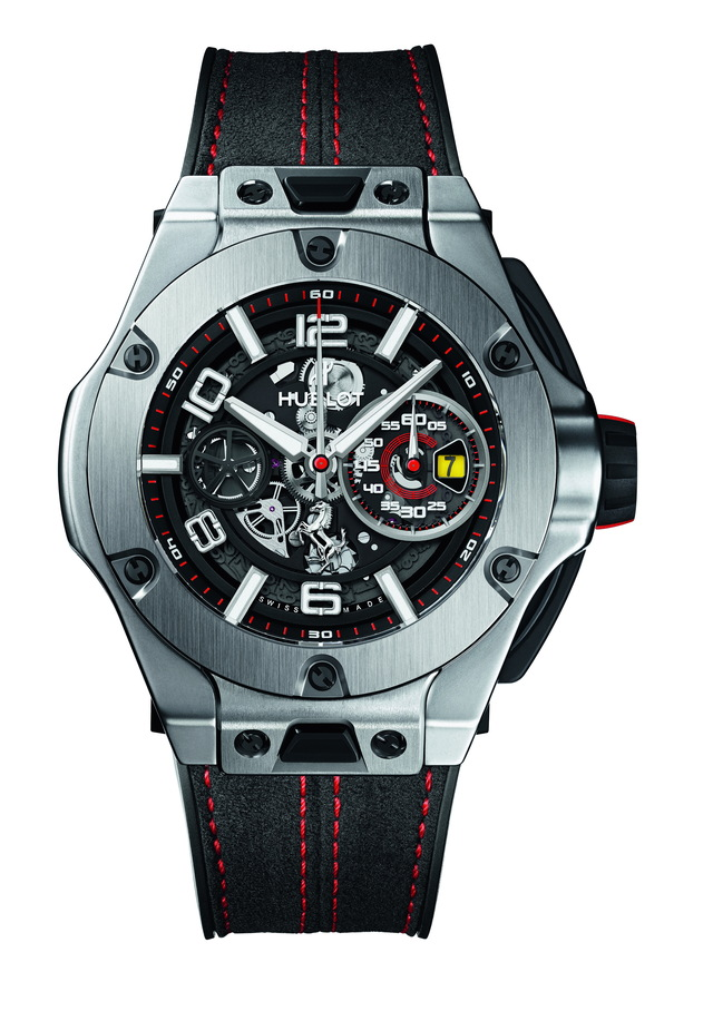 HUBLOT Big Bang Ferrari Titanium腕錶,81萬5000元。品牌提供