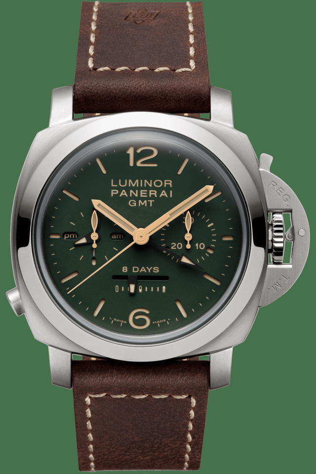 OFFICINE PANERAI LUMINOR 1950 CHRONO MONOPULSANTE錶款,58萬6000元。品牌提供