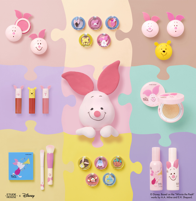 ETUDE HOUSE Happy With Piglet 幸福每一天系列。2019/1/1上市。品牌提供