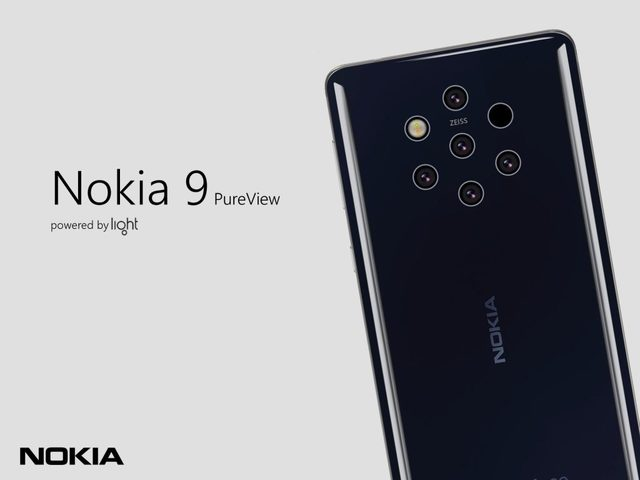 Android團隊外流的Nokia 9 Pureview宣傳照,可見將搭載後置5鏡頭。翻攝Android
