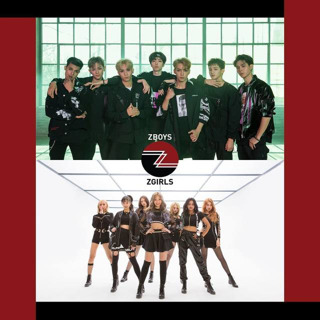 Z-BOYS(上)出道曲《No Limit》、Z-GIRLS新歌《What You Waiting For》MV點閱次數合計已破500萬。翻攝Z-POP DREAM IG